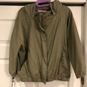 Like New! Lightweight Green Hooded Jacket